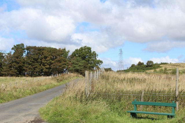 Roadside Bench by Finlaystone Road