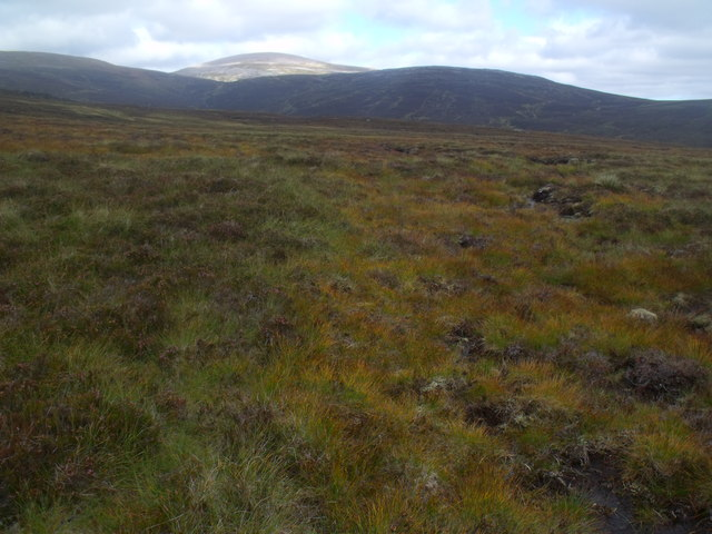 View east from boggy ridge near Caochan Ban in the Eidart system, Glenfeshie