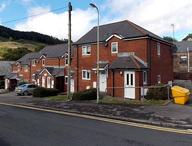 Modern houses in Alexandra Road, Pontycymer