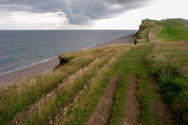 Norfolk Coastal Path approaching Sheringham