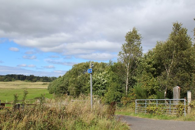 Access track leading to National Cycle Network Route 75