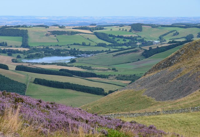 Yetholm Loch from Crookedshaws Hill