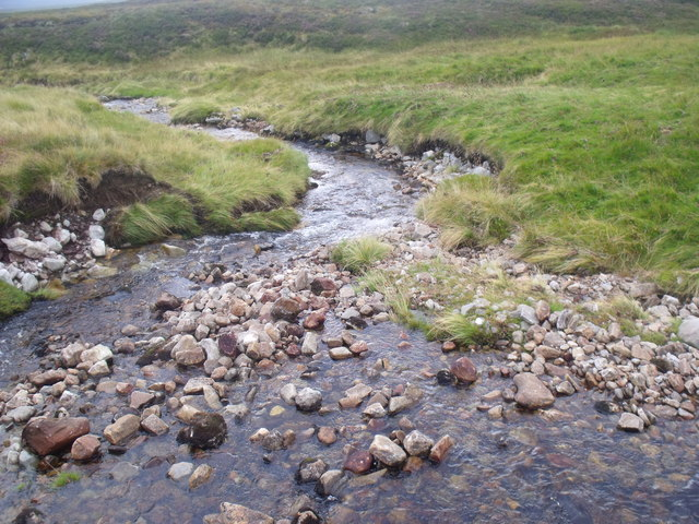 The water of Allt Eindart on Glenfeshie estate