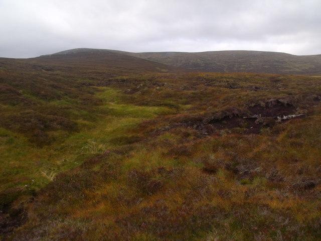Minor drainage course west of Allt Eindart, Glenfeshie