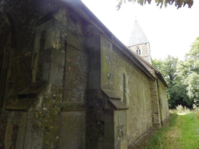 North side of Chickney church