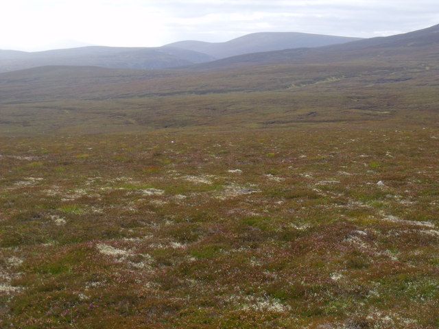 View west from ridge south of Diollaid Coire Eindart, Glenfeshie
