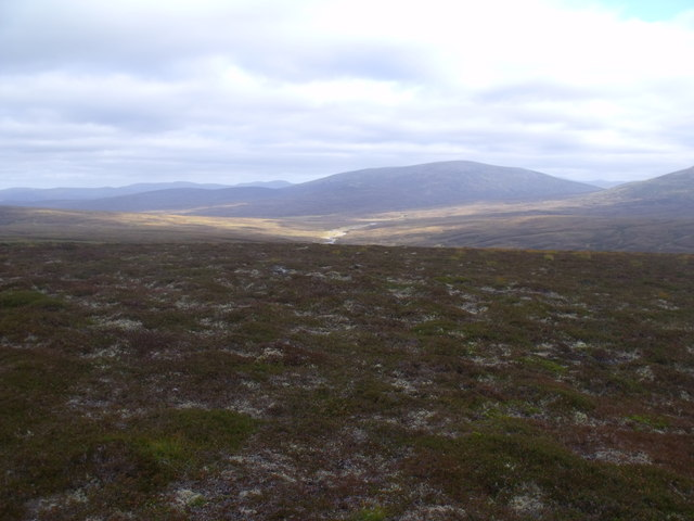 View east from ridge south of Diollaid Coire Eindart, Glenfeshie