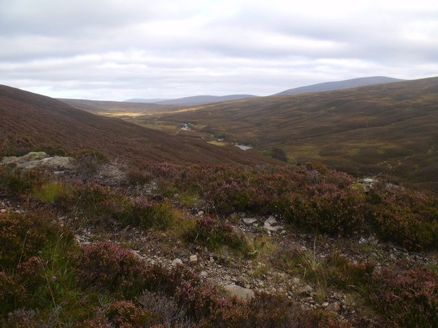 ATV track perched above River Feshie near Aviemore