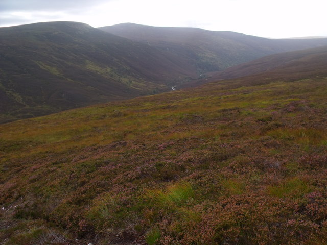 View west from slopes north of River Feshie near Aviemore