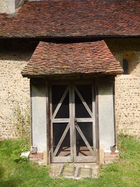 Chickney church porch