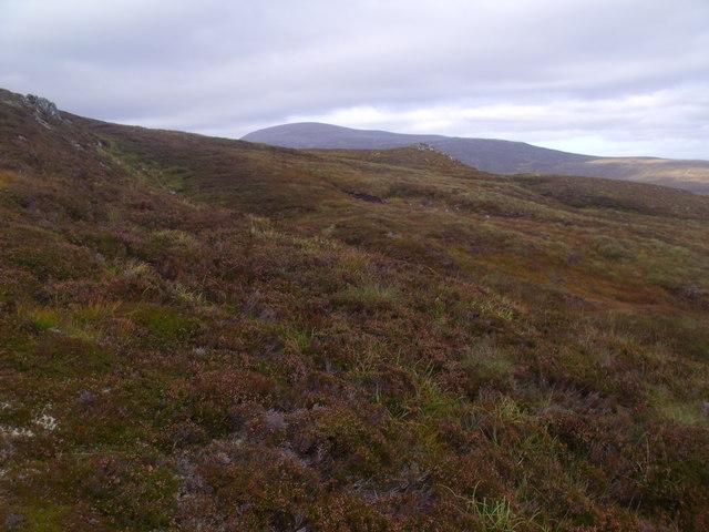 Broken rocky ground high above River Feshie near Aviemore