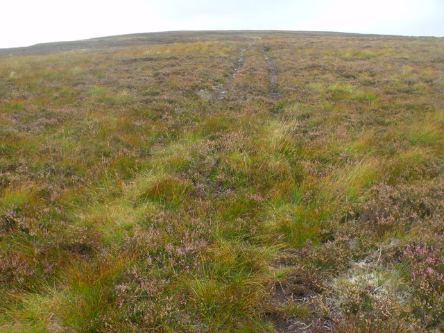 ATV track heading up to ridge south of Diollaid Coire Eindart, Glenfeshie