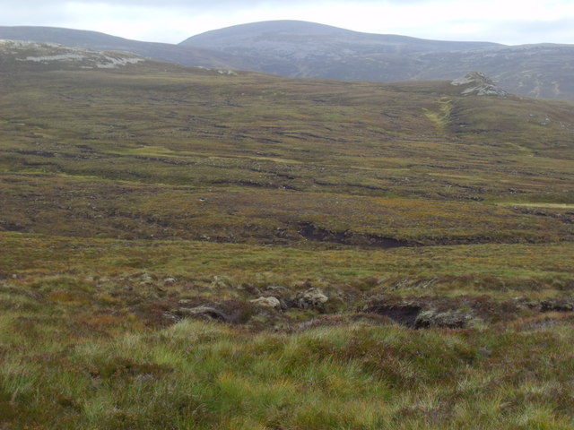 Looking across the catchment of Allt Eindart on Glenfeshie estate