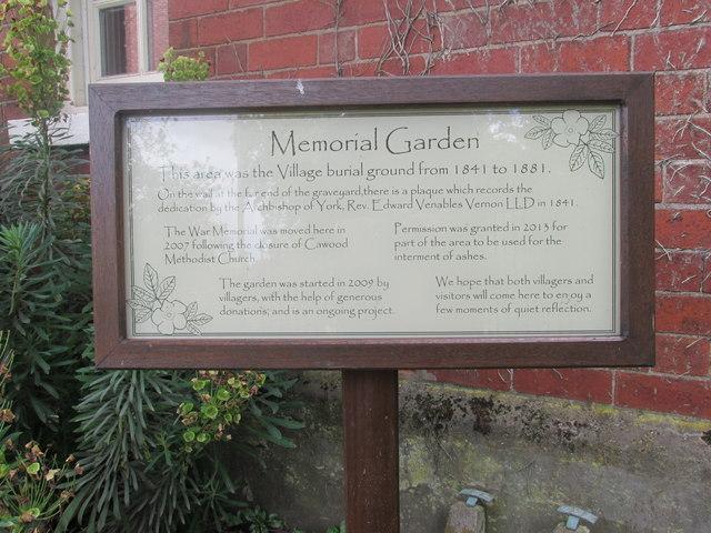 Memorial garden, Church End #3