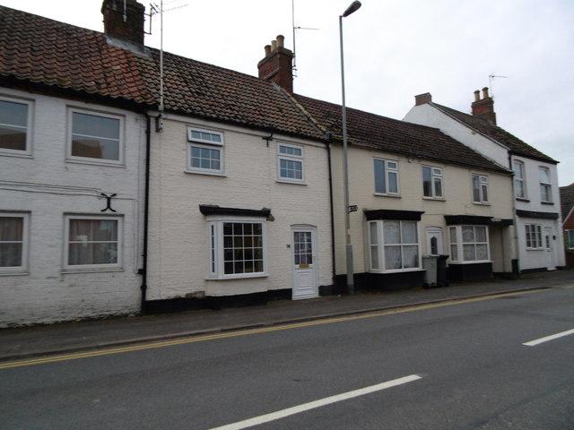 Houses on Halton Road, Spilsby