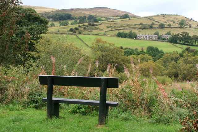 Bench on the Sett Valley Trail