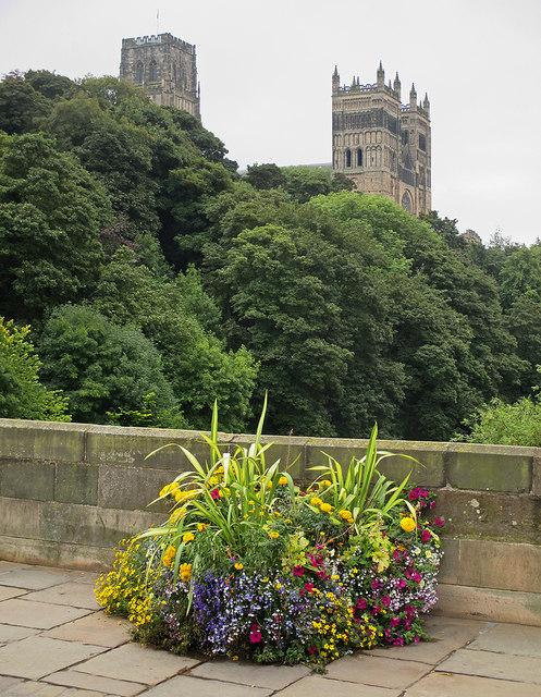 Durham: the Cathedral from Framwellgate Bridge