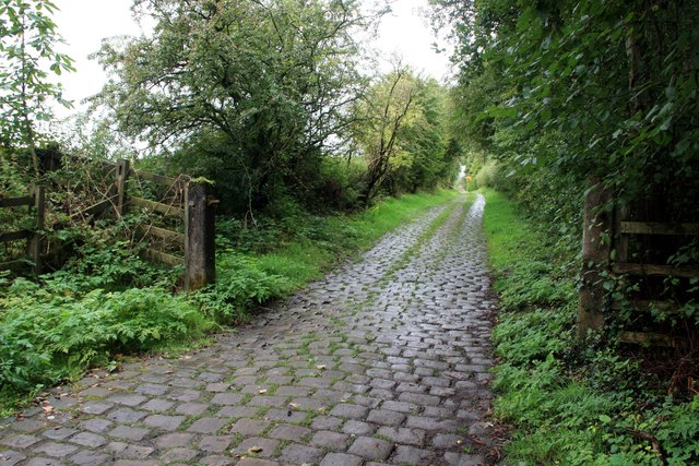 Cobbled lane at Wilde's Crossings