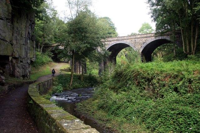 Railway viaduct over the River Sett