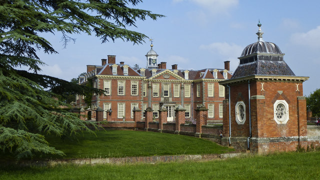 Hanbury Hall from the footpath