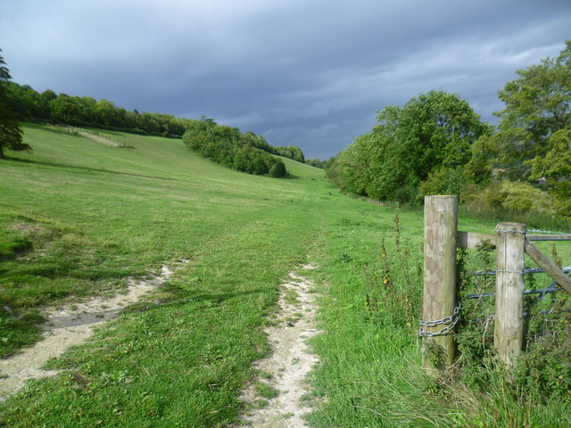 Along the side of the Darent Valley