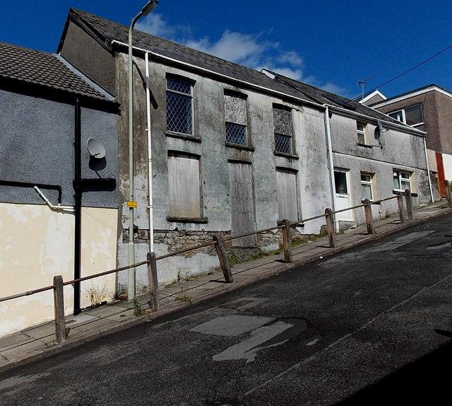 Derelict building in Richard Street, Pontycymer