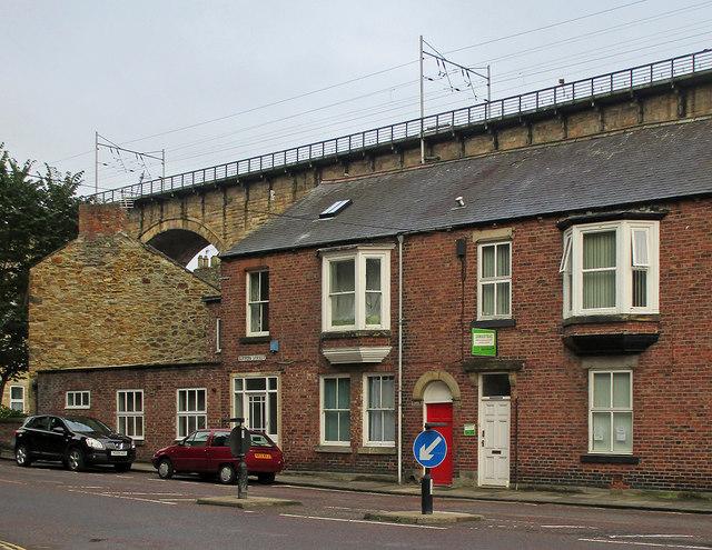 Durham: the railway viaduct above Sutton Street
