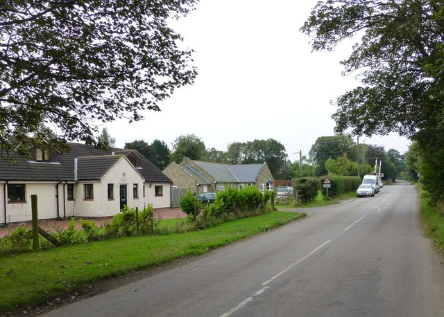 Cottages beside a level crossing on ECML