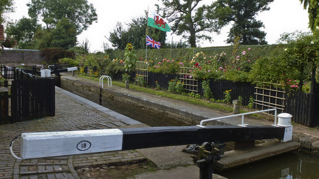 Flags Flying at Astwood Lock