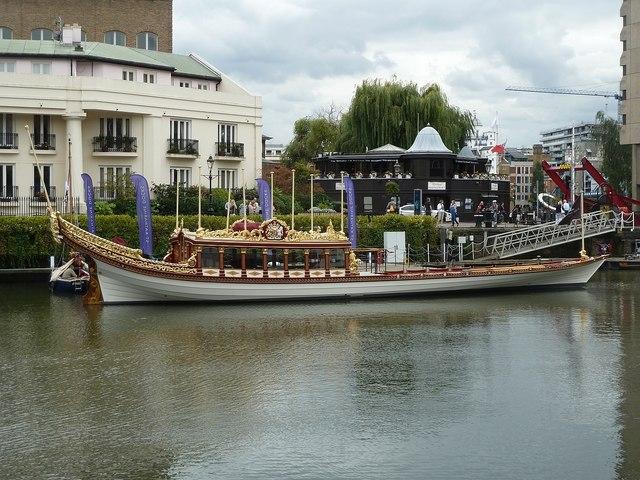 "Royal Barge ""Gloriana"" at St Katherine Dock (2)"
