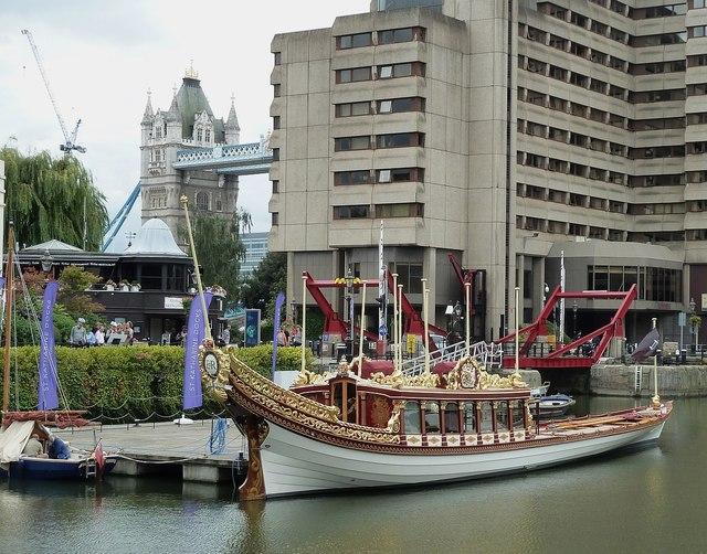 "Royal Barge ""Gloriana""  at St Katherine Dock (3)"