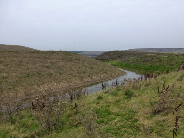 Former open cast coal mining area