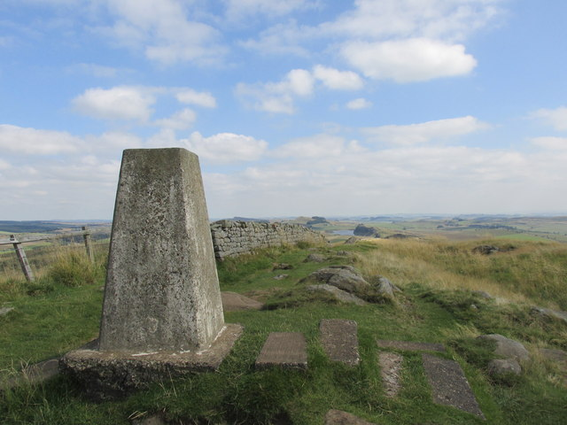 Trig point on Winshields crag.