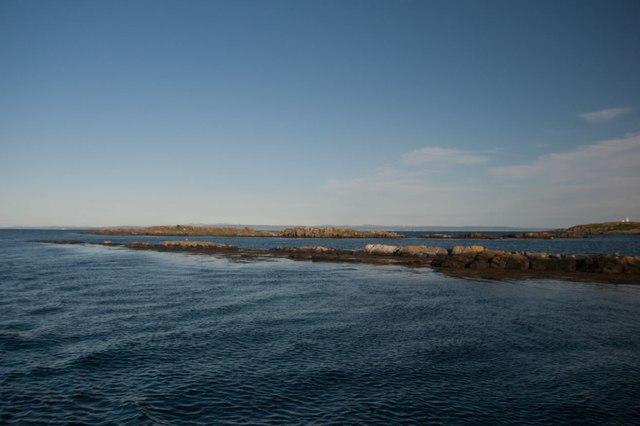Small islets on Islay's eastern coast