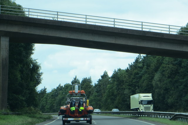 Heading west on the A30