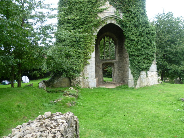 The ruins of St Mary's Church, Little Chart