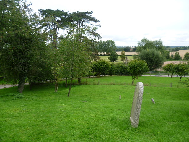 View from the churchyard of the ruined St Mary's Church, Little Chart