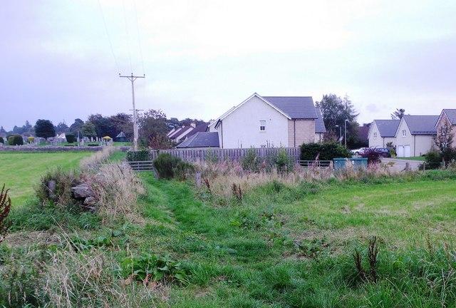 The path from Waulkmill Farm footbridge