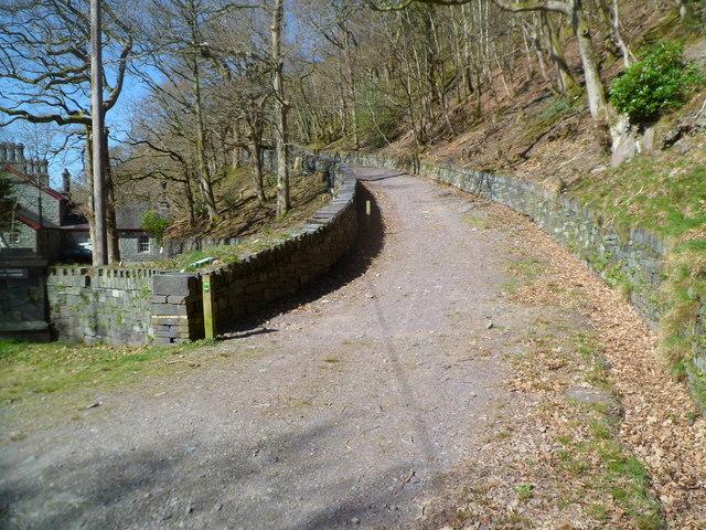 Path through Padarn Country Park
