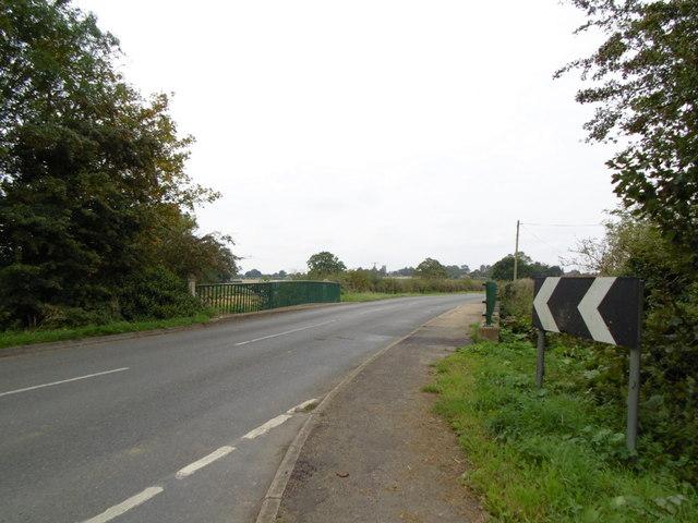 The B1195 at Halton Bridge