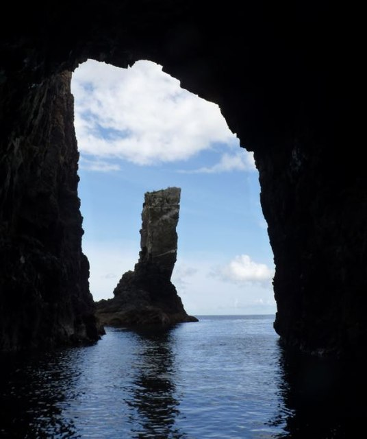 Soldier's Rock from inside the cave, Islay