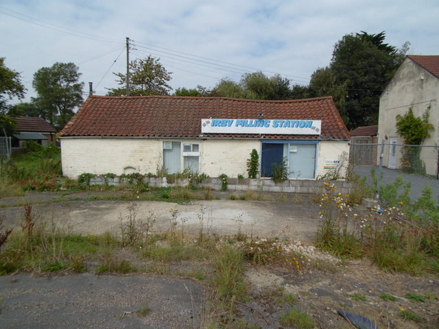 The former Irby Filling Station, Irby in the Marsh