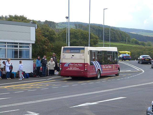 Bus at Kennacraig Ferry Terminal