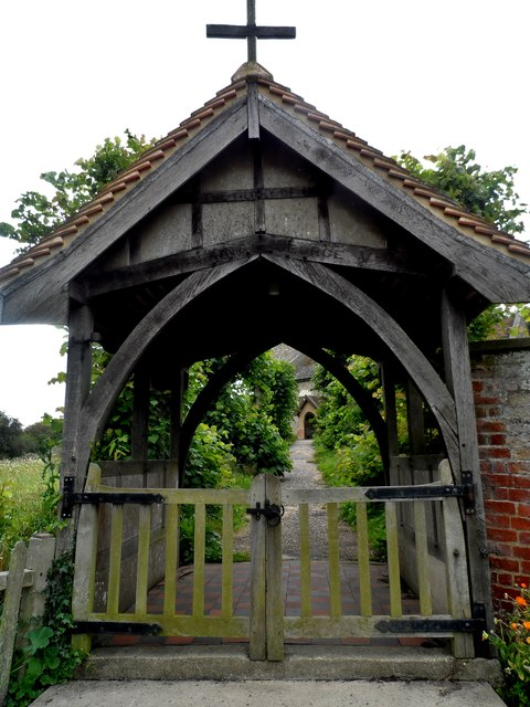 Lych gate, St Peter's church, Bruisyard