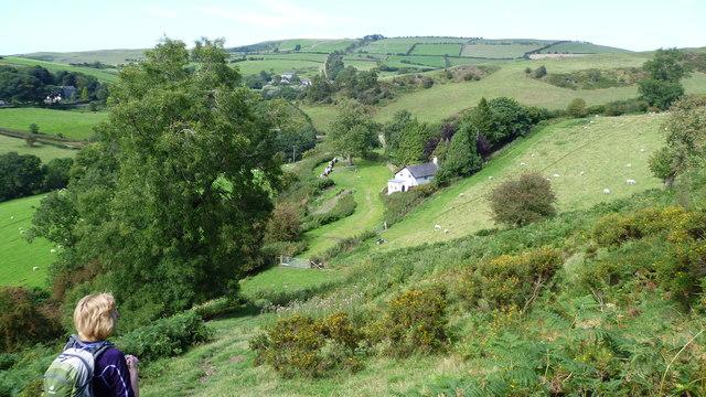 On Offa's Dyke Path above Brynorgan