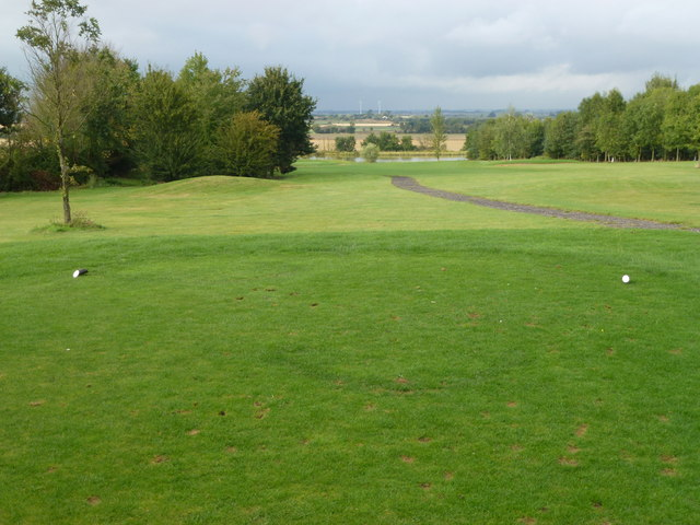 Fairway and footpath at Pidley Golf Centre