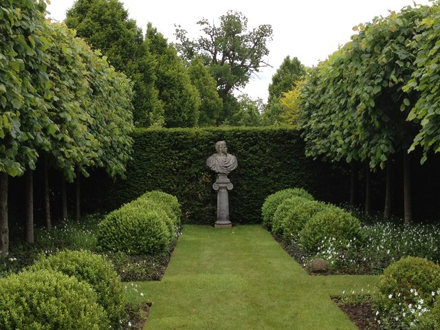 Formal garden at Wilkins Pleck