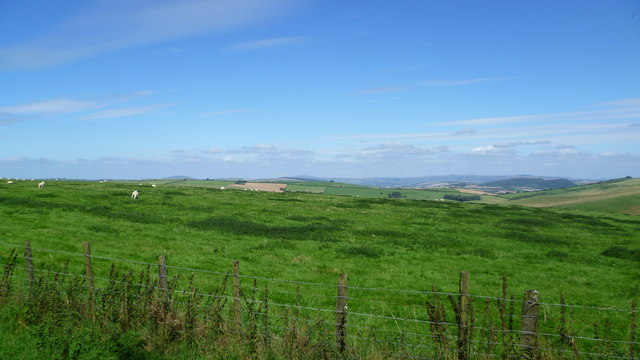 View northwards from Offa's Dyke Path in summer