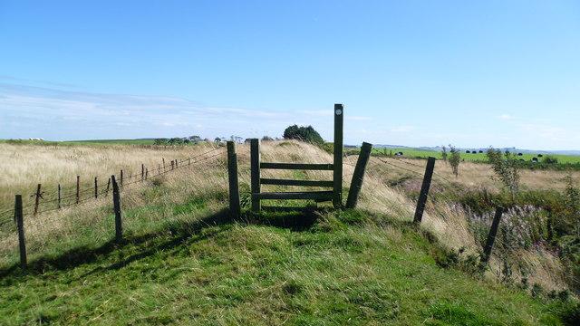 Stile on Offa's Dyke Path north of Llanfair Hill