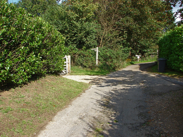 Footpath signpost, Little Tangley